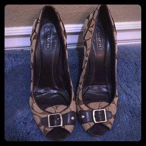 Brown coach shoes size 10
